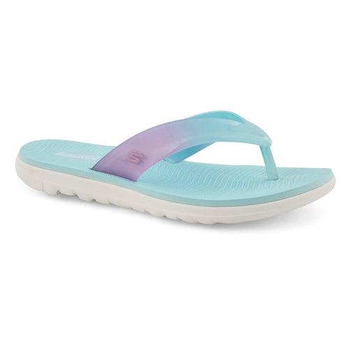 Sandale de plage TBA, turquoise/rose,fem
