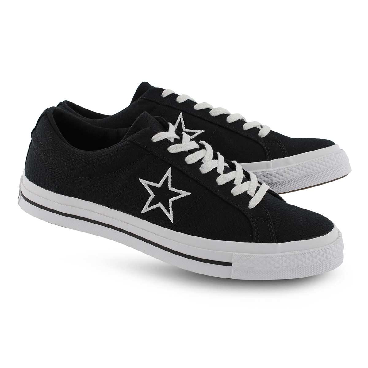 Espadrilles mode ONE STAR, noir/blanc, hommes