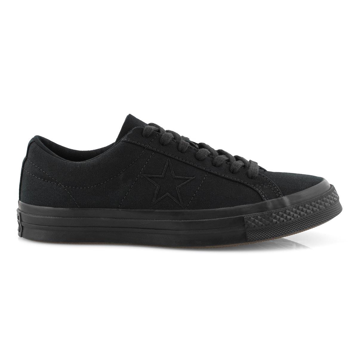 Men's One Star Sneaker - Black/Black
