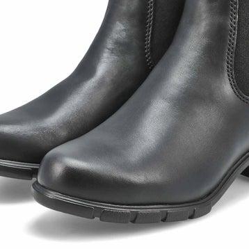 Women's 1671 block heel black pullon chelsea boots