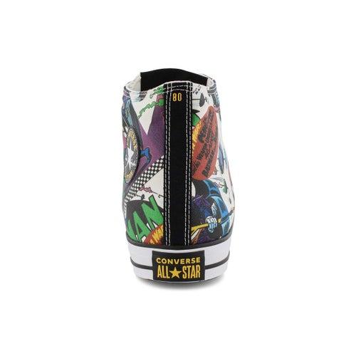 Mns Batman multi/wht high top sneaker