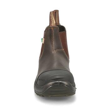 Bottes CSA, brun stout, double élastique, unisexe