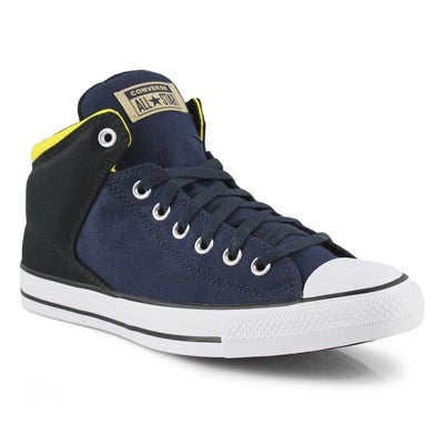Men's CT ALL STAR HIGH STREET blk/yellow hi tops