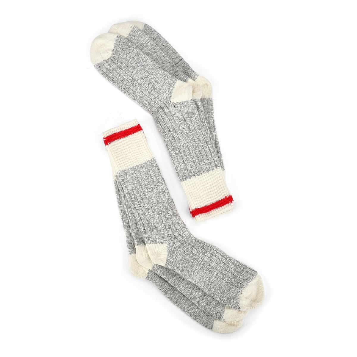 Men's DURAY grey/white wool blend sock - 3pk