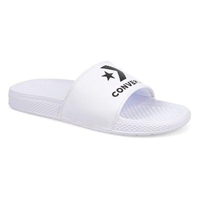 Lds All Star wht/wht casual slide sandal