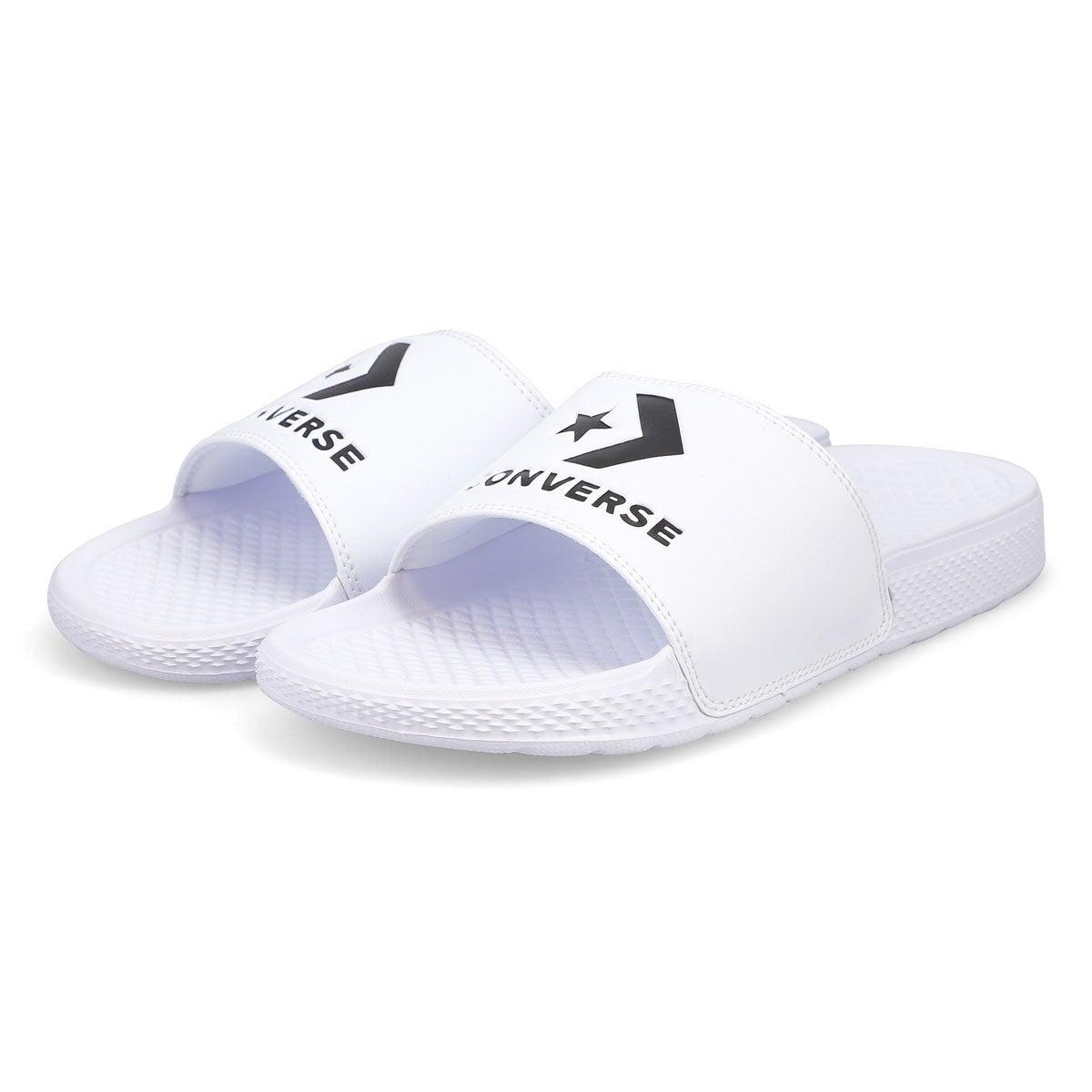 Men's All Star Casual Slide Sandal - White/Black