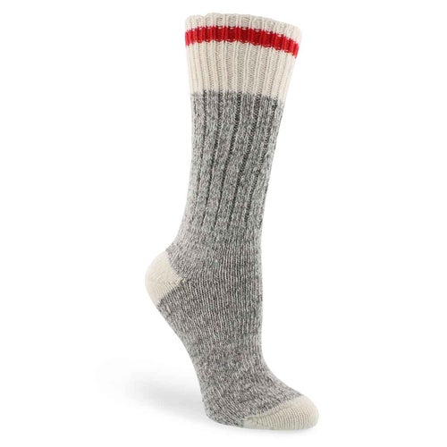 Lds Duray grey/wht wool blend heavy sock