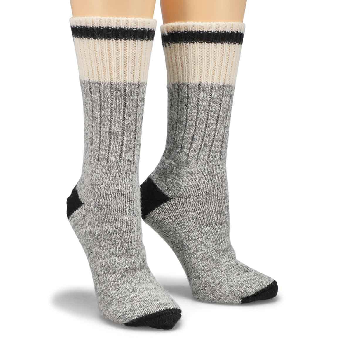 Women's Duray Wool Blend Sock - Grey/Black
