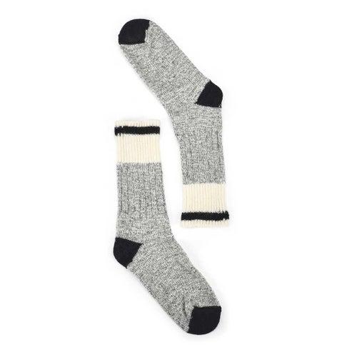 Lds Duray grey/blk wool blend heavy sock
