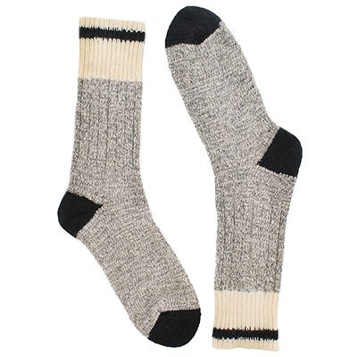 Women's grey/black wool blend heavy socks