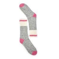 Women's Duray Wool Blend Heavy Sock - Grey/Pink