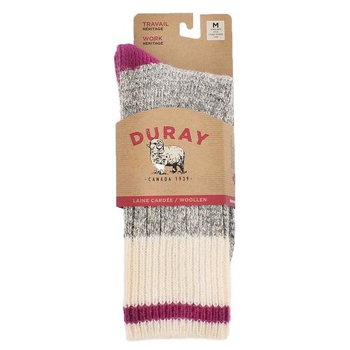 Chaussettes épaisses Duray, grs/rse, fem