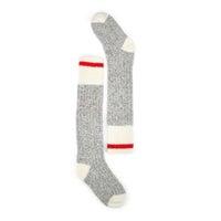 Chaussettes hautes DURAY, laine gris/blanc, femmes