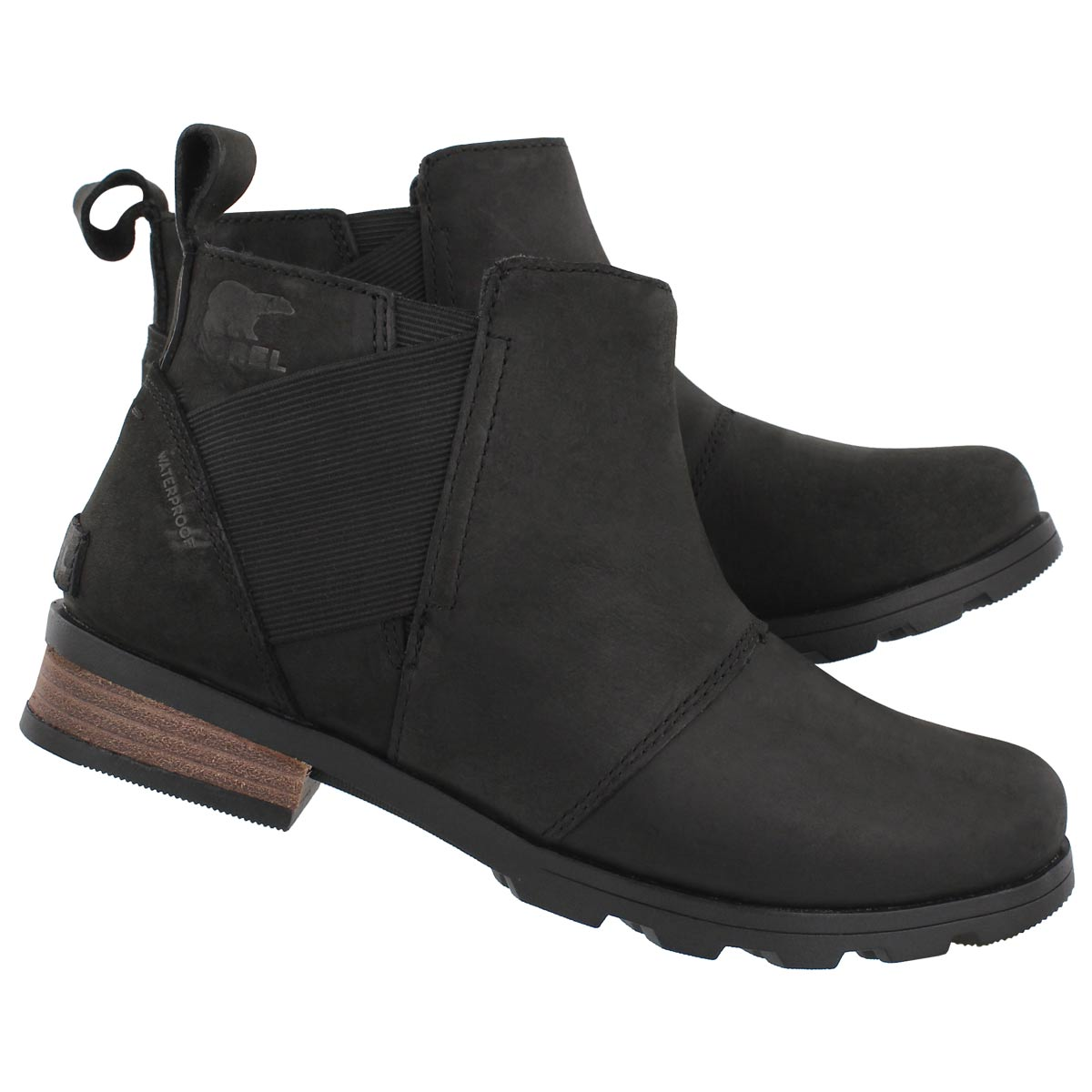Lds Emelie Chelsea black wtpf boot