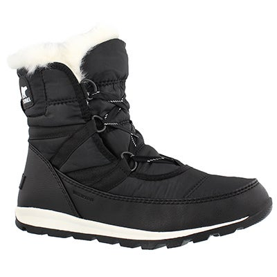 Women's WHITNEY SHORT LACE blk wp winter boots