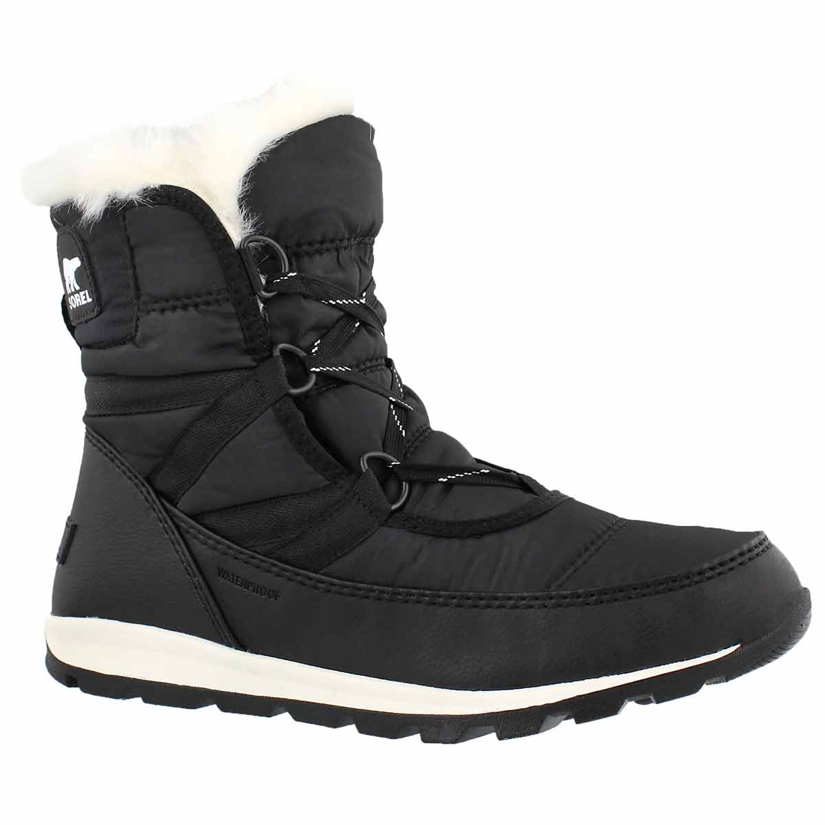 Lds WhitneyShortLace blk wp winter boot