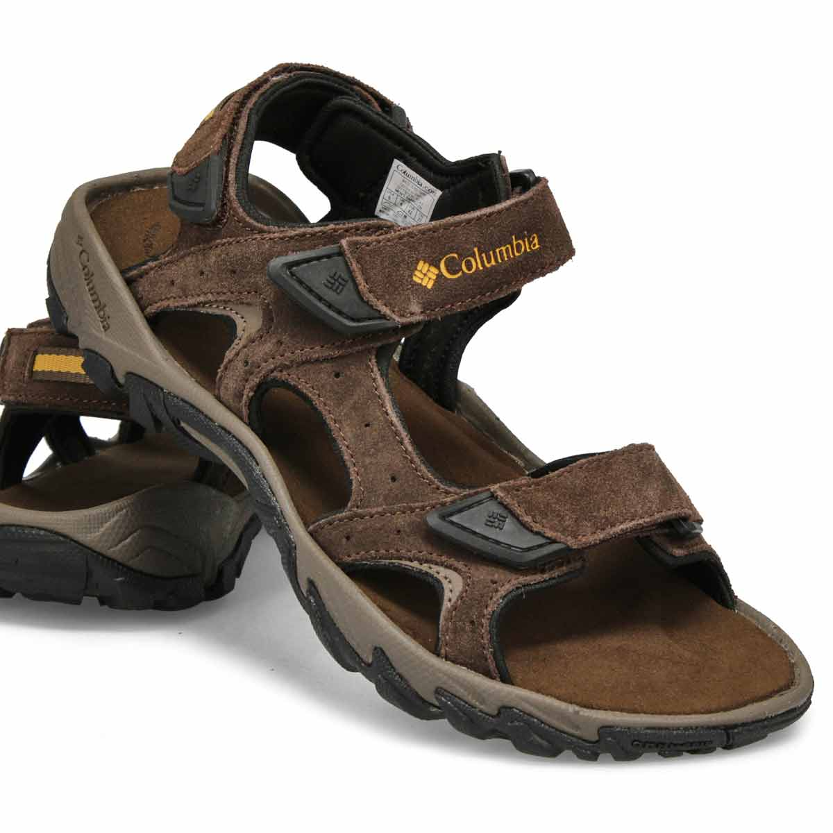 Sandales 3brides SANTIAM, brun/banane, hommes