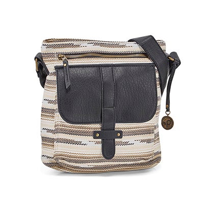 Lds Gotta Run tiger's eye crossbody bag