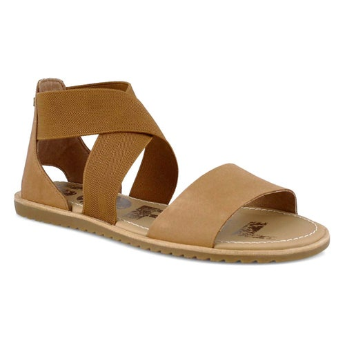 Lds Ella camel brown casual sandal