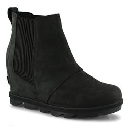 Lds JOA Wedge II Chelsea blk wtpf boot