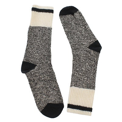 Duray Women's DURAY black marled work socks