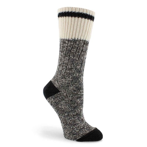 Lds Duray black marled work sock