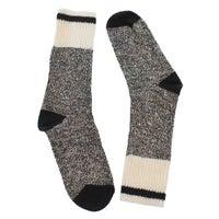 Women's DURAY black marled work socks
