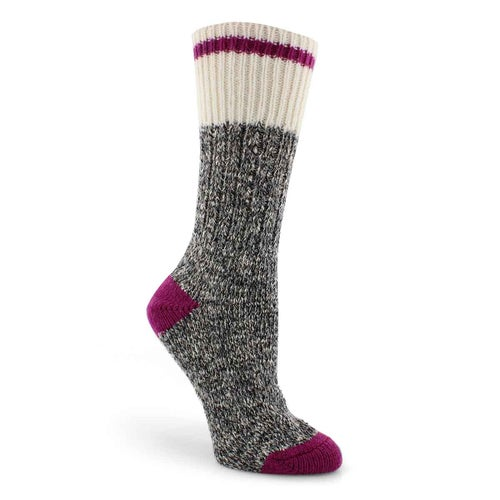 Lds Duray grey marled work sock