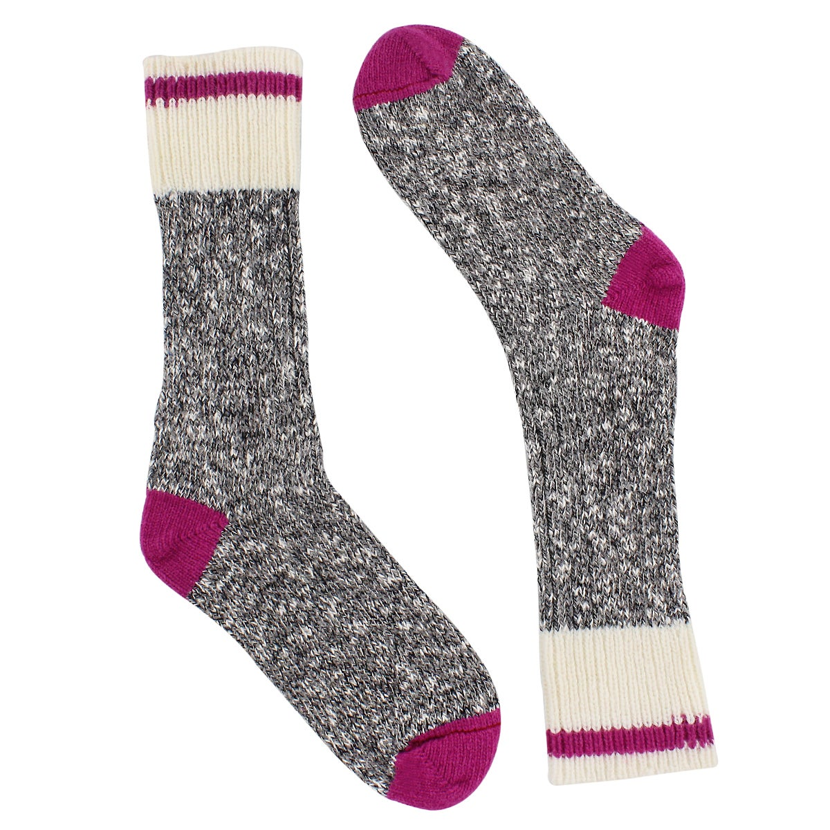 Women's Duray Work Sock - Grey Pink