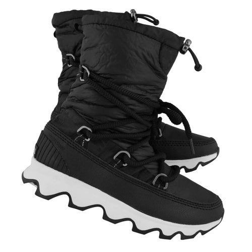 Lds Kinetic blk/wht wtrpf boot