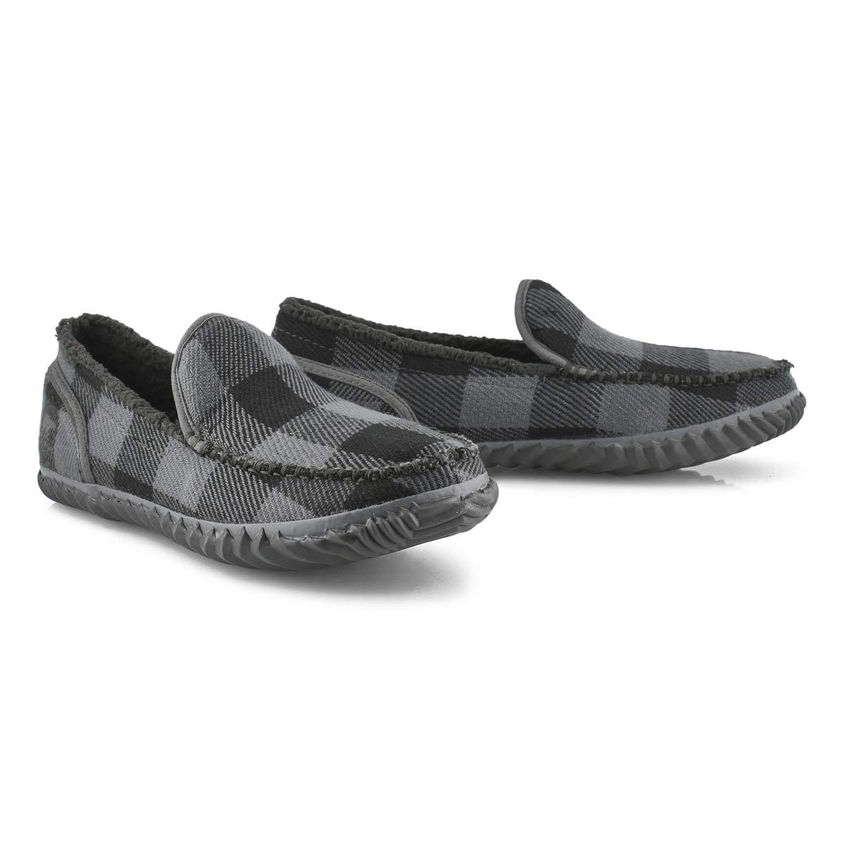 Men's Dude Moc Slipper - Grey