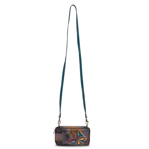 Painted lthr Butterfly Paradise wallet