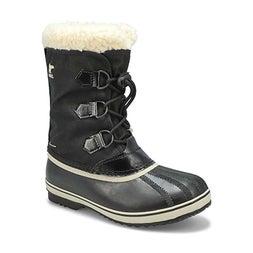 Kds Yoot Pac Nylon blk wtpf snow boot