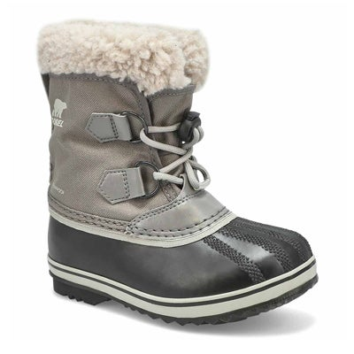 Kids' YOOT PAC nylon grey waterproof snow boot