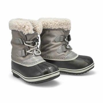 Bottes de neige YOOT PAC NYLON grises, enfants