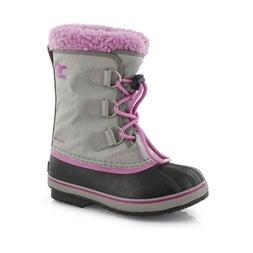 Grls Yoot Pac Nylon gry wtpf snow boot