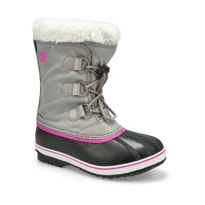Grls Yoot Pac Nylon Wtpf Snow Boot -Grey