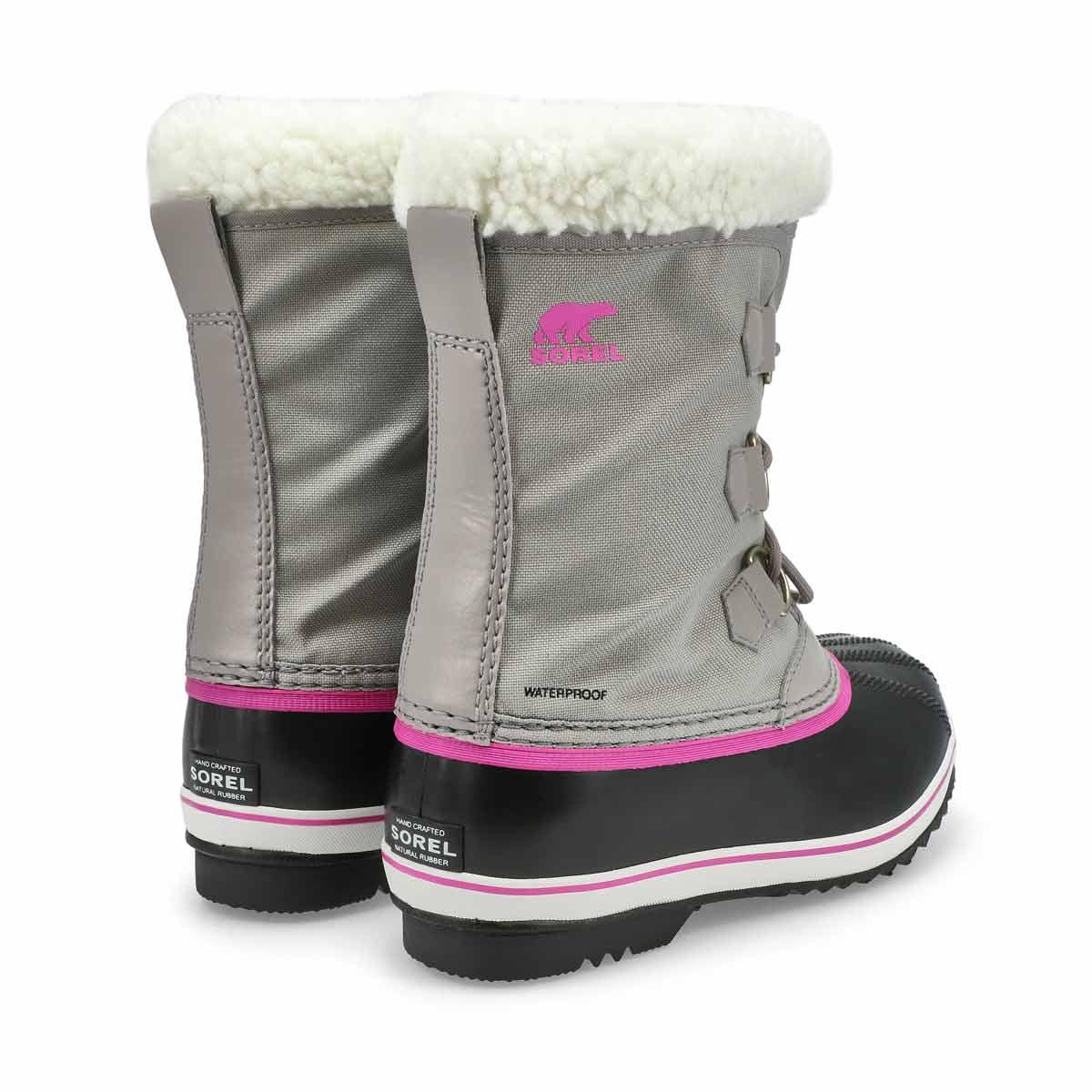 Girls' Yoot Pac Nylon Waterproof Snow Boot - Grey