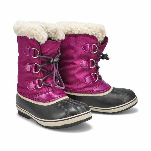 Grls Yoot Pac Nylon plum wtpf snow boot