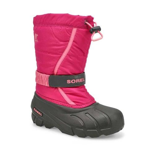 Grls Flurry blsh/pnk pull on winter boot