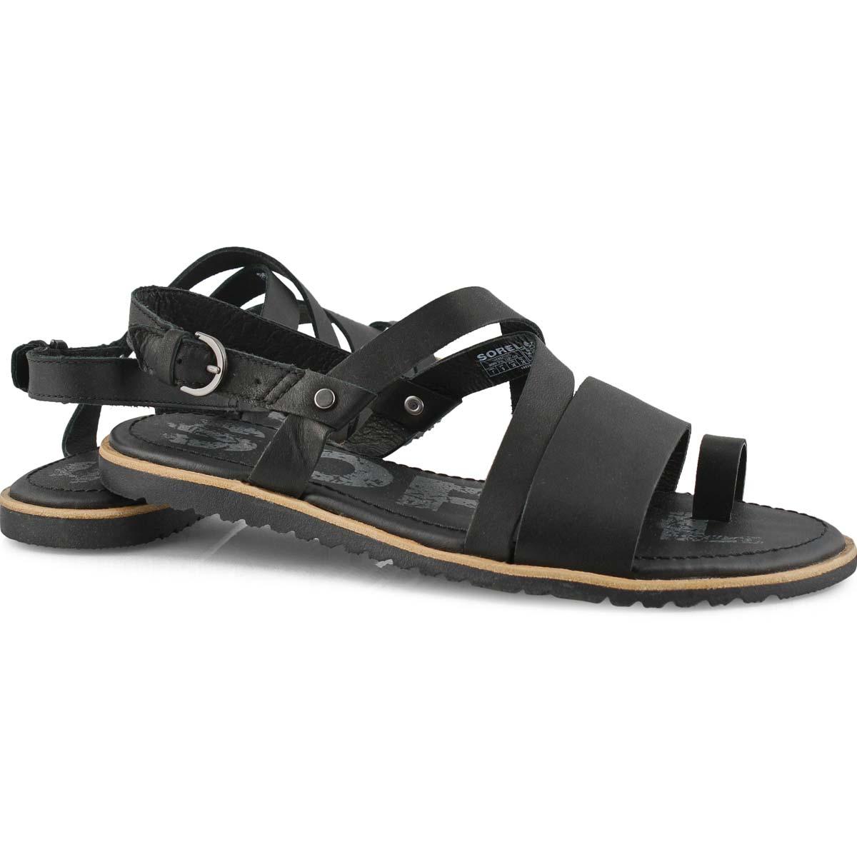 Women's ELLA CRISS CROSS black casual sandals