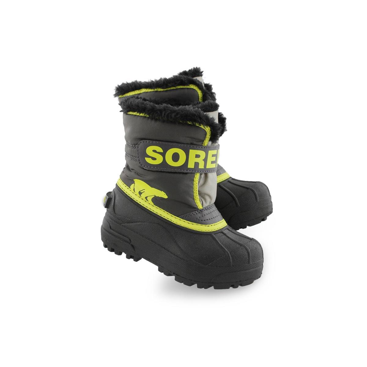 Bottes SNOW COMMANDER, gris/jaune, enfants bas âge