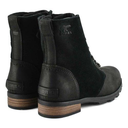 Lds Emelie Short Lace blk wtrprf boot