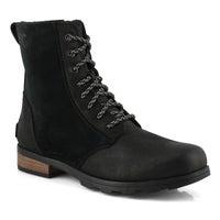 Women's Emelie Short Lace Waterproof Boot- Black