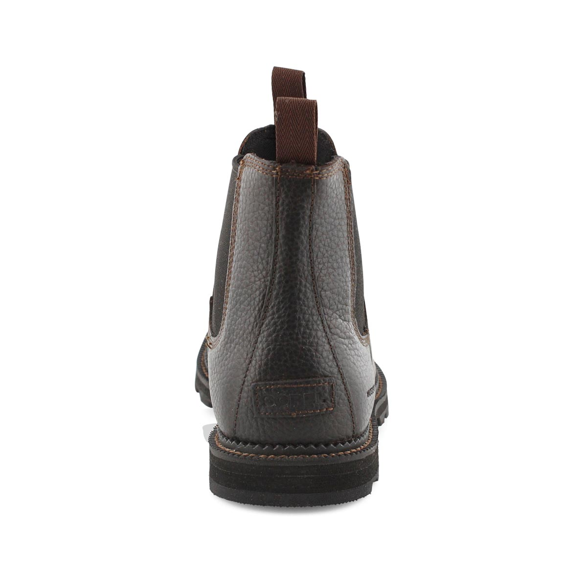 Mns Madson tobacco/blk wtpf chelsea boot