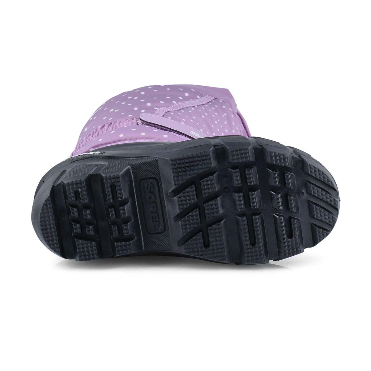 Grls Flurry purple pull on winter boot