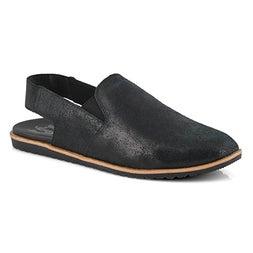 Lds Ella Slingback black casual sandal
