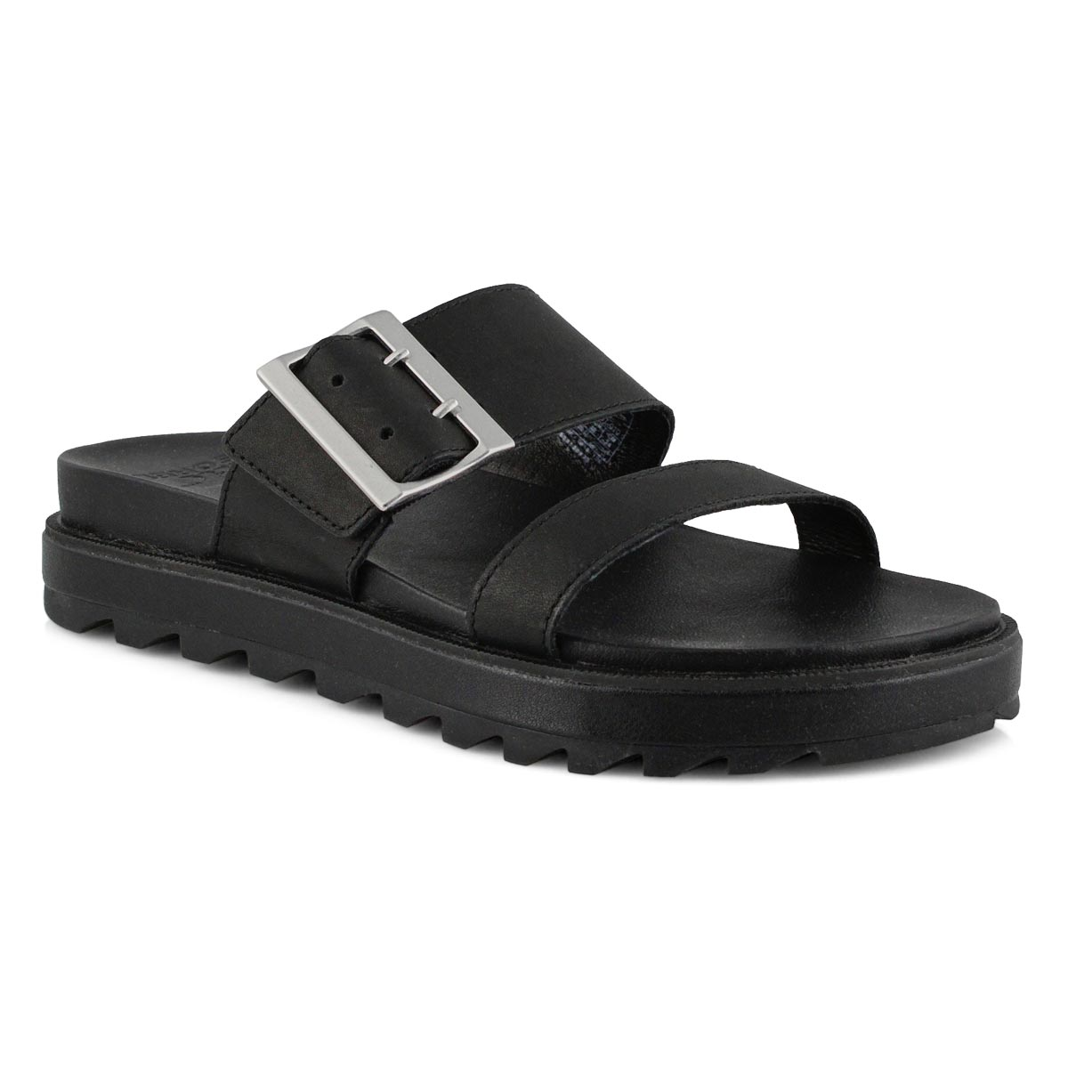 Womens's Roaming Buckle Slide Sandal - Black