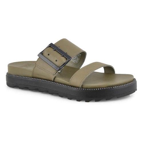 Lds Roaming Buckle Slide sage sandal