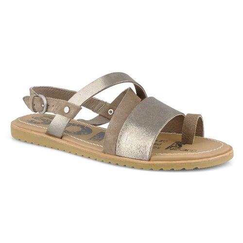 Sandale, Ella Criss Cross, brun, femmes